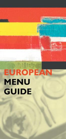 The European Menu Guide